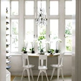 Bovenlicht wood window or transom window paint in white color at home