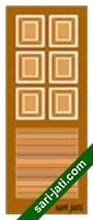 Solid Louvre Panel Door Design