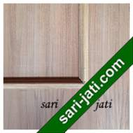 Detil Pintu Plywood Teakwood Lis Timbul