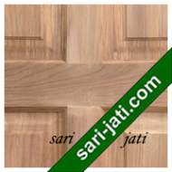 Detil Pintu Panel Solid Raised Standar Jati