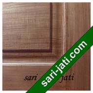 Detil Pintu Panel Solid Raised Jati