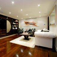 Wood flooring in living room