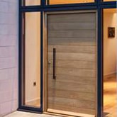 modern contemporary minimalist lamella door