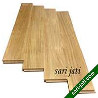 perhutani teak solid T&G flooring random length