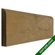 Solid perhutani teak wood base moulding or skirting BM 1270