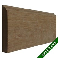Solid merbau wood base moulding or skirting BM 1591