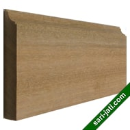 Solid merbau wood base moulding or skirting BM 1593