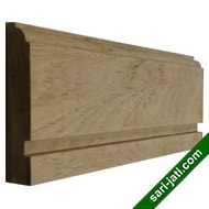Perhutani teak base moulding skirting