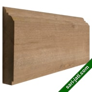 Solid merbau wood base moulding or skirting BM 2090