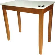 perhutani teak working table finishing combination melamine solvent-based and paint Llavi WT 1A1