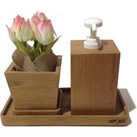 dekorasi rumah perlengkapan kamar mandi nampan kayu jati
