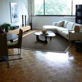 solid wood parquet in living room
