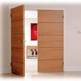 Jual Pintu Double Plywood Teakwood Tripleks Murah Untuk Rumah
