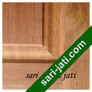 Detil Pintu Panel Solid Raised Dibevel Kayu Merbau SRP 1B1