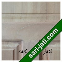 Detil pintu kayu kamper, panil solid raised bevel SRP 3A2