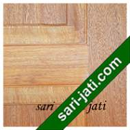 Detil Pintu Panel Solid Raised Dibevel Kayu Merbau SRP 3A9