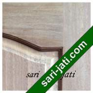 Detil Pintu Panel Solid Raised Dibevel Kayu Jati Perhutani I SRP 3B3