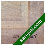 Detil Pintu Panel Solid Raised Dibevel Kayu Merbau SRP 4A5