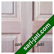 Detil Pintu Panel Solid Raised Dibevel Kayu Kamper SRP 4B2