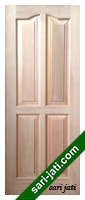 Pintu Panel Solid Raised Dibevel Kayu Kamper SRP 4B2