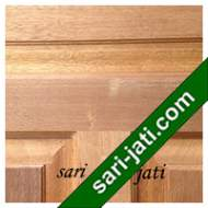 Detil Pintu Panel Solid Raised Dibevel Kayu Merbau SRP 5A3