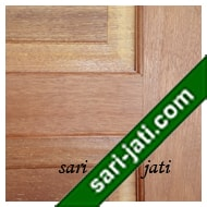 Detil Pintu Panel Solid Raised Dibevel Kayu Merbau SRP 5A7