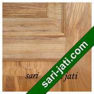Detil Pintu Panel Solid Raised Dibevel Kayu Jati Perhutani I SRP 5B3